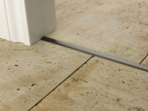 Premier T bar bar, 14mm wide, connecting strip between tiled floors, quality antique brass