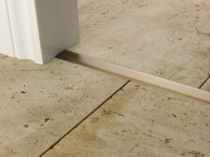 Premier T bar bar, 25mm wide, connecting strip between tiled floors, quality antique brass