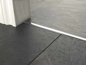 Premier T bar bar, 14mm wide, connecting strip between tiled floors, quality chrome
