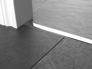 Premier T bar bar, 25mm wide, connecting strip between tiled floors, quality chrome