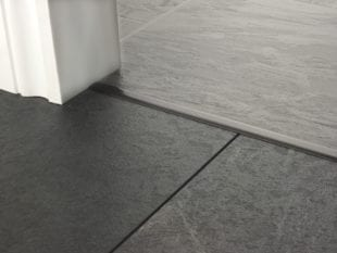Premier T bar bar, 14mm wide, connecting strip between tiled floors, quality pewter