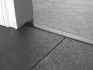 Premier T bar bar, 25mm wide, connecting strip between tiled floors, quality pewter