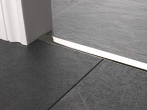 Premier T bar bar, 25mm wide, connecting strip between tiled floors, quality polished nickel