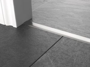 Premier T bar bar, 25mm wide, connecting strip between tiled floors, quality satin nickel