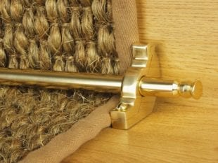 balmoral stair rod shown in polished brass
