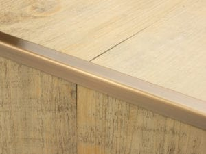 Premier Little Nose, step edging for LVT, Antique Brass