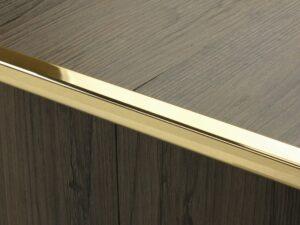 Premier Little Nose, step edging for LVT, Polished Brass