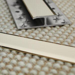 Feline 2 carpet to carpet door thresholds and carpet trim