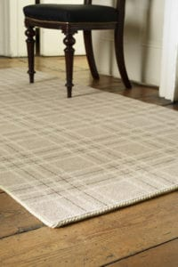 Easybind carpet binding on tartan rug