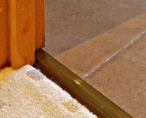 Posh door threshold, universal applications, on carpet to carpet