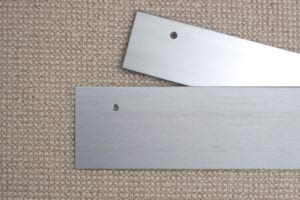 SSEP 1 extra wide carpet trims, 75mm & 100mm, from CarpetRunners.co.uk stainless finish