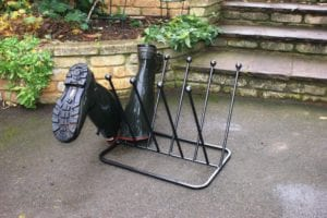 Wellie Boot Holder In Wrought Iron