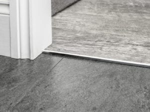 LVT square Cap door bar for joining hard flooing in chrome