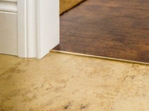 LVT square Cap door bar for joining floors in satin brass