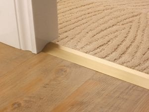 Compression ramp carpet joiner satin brass