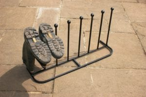 Boot rack long for 4 pairs of wellies