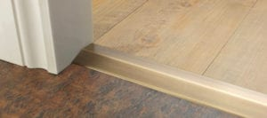 Premier Ramp satin brass from wood to LVT