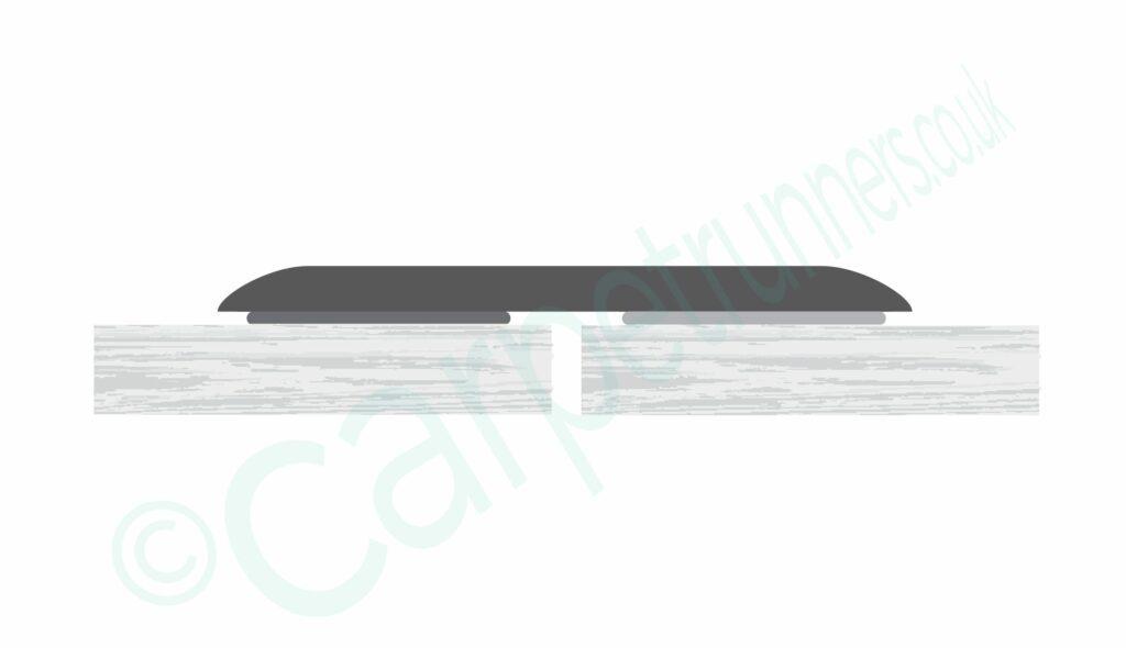 Floating Euro Cover floor trim diagram for joining hard flooring