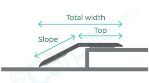 Premier 2 Way Ramps join hard floring with a height difference