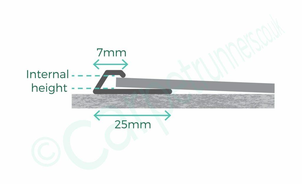 Premier LVT bevelled cap floor trim neatly edges LVT - product diagram