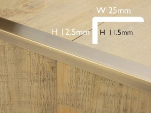 Bigger Lip floor trim finishes the edges of hard flooring - product dimensions