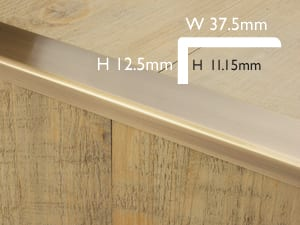 Premier Wide Lip floor trim product diagram for joining hard to hard flooring