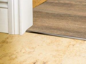 Vinyl floor tirm LVT bevel Cap in antique bronze