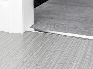 Chreom door thresholds for joining carpet and hard flooring