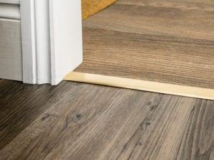 satin brass door thresholds for joining carpet and hard floorcoverings