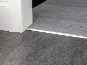 vinyl floor tirm LVT bevel Cap satin nickel finish for doorways
