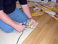 How to bind a rug with Easybind carpet edging stage 2