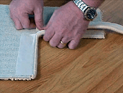 How to bind a rug with Easybind carpet edging stage 7