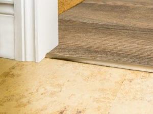 carpet bar for stick down carpet to LVT Premier Single 4 antique brass