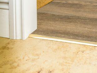 carpet bar for stick down carpet to LVT Premier Single 4 poishedbrass