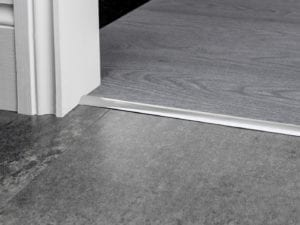carpet bar for stick down carpet to LVT Premier Single 4 in brushed chrome