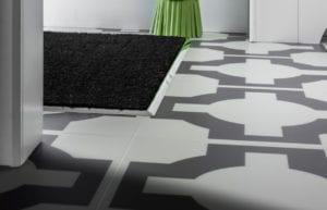 Premier matwell edging in brushed chrome for indoor door mat