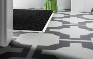 Premier matwell edging in chrome for indoor door mat