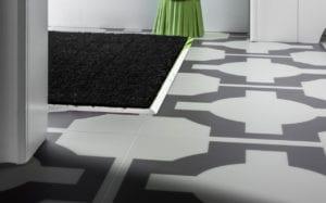 Premier matwell edging in polished nickel for indoor door mat
