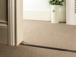 Double Z Bar for joining carpets extra slim antique bronze finish