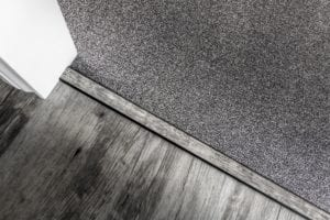 laminate door strips for joining to carpet in black aluminium