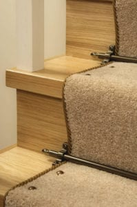 Carpet Studs on a staircase