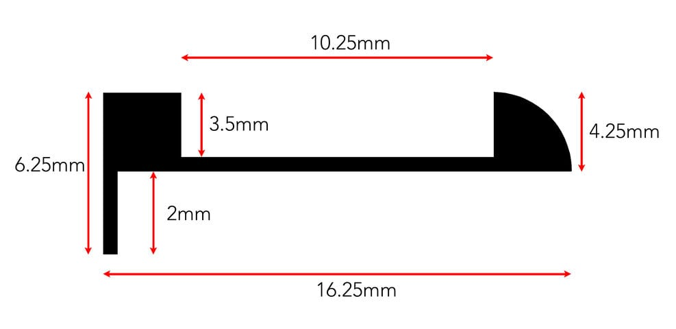 Ali Tramline End beading dimension diagram for 3mm version