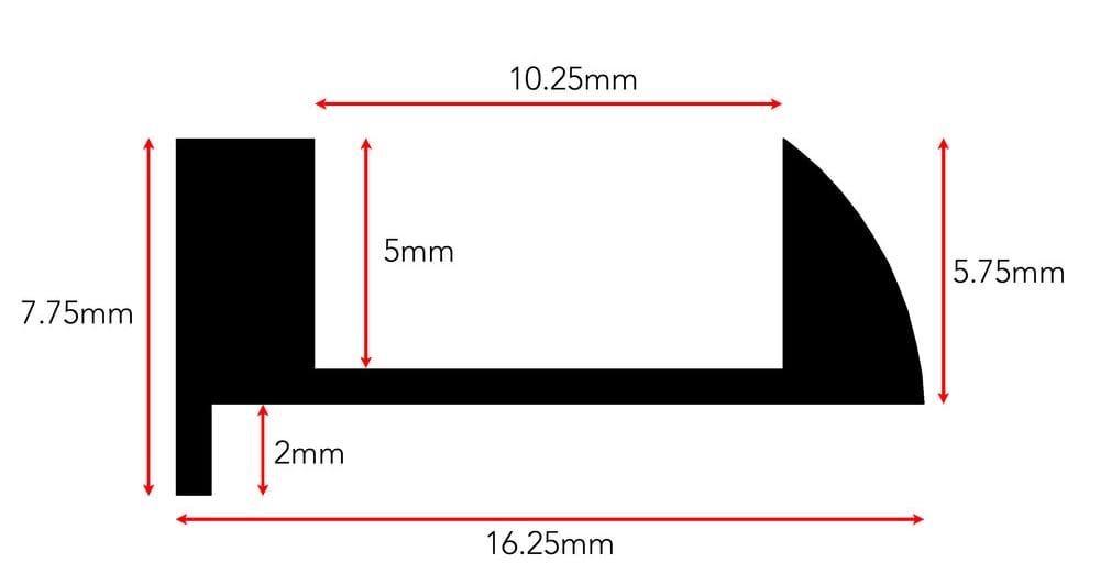 Ali Tramline End beading dimension diagram for 5mm version