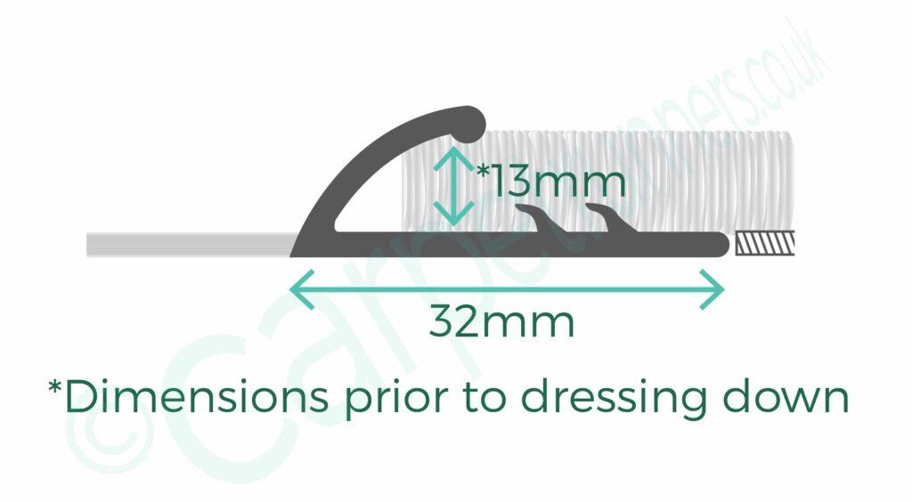 Dimensions of Premier Single 13 door threshold