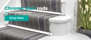 Button to link to chrome stair rods in online shop