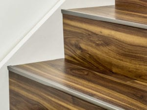 stair edging for vinyl in antique bronze on vinyl covered stairs
