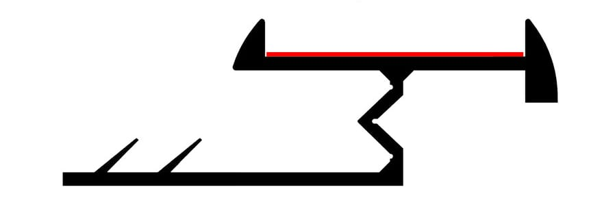 Diagram showing carpet threshold-Ali TramlineZ