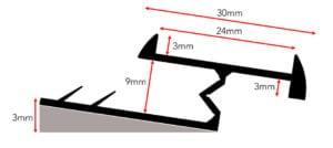 diagram of carpet threshold