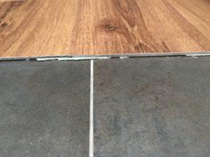 LVT to tile door join example