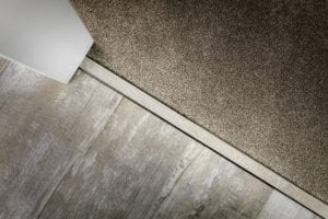 laminate door strips for joining to carpet in antique brass